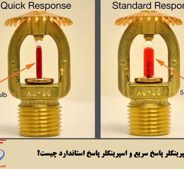 تفاوت اسپرینکلر واکنش سریع و اسپرینکلر پاسخ استاندارد