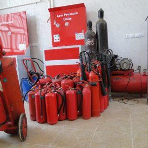 شارژ کپسول آتش نشانیCO2